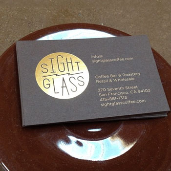 Foiling Business Cards