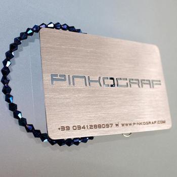 White Metallic Business Cards